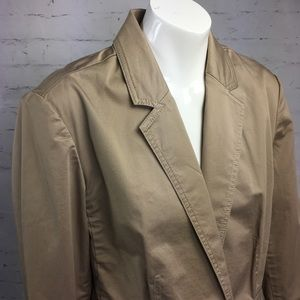 Talbots Tan Blazer Single Button Fitted Jacket
